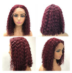 Red Wine T Part Deep Wave Wig