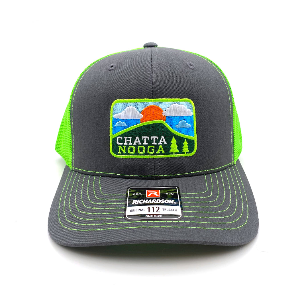 Embroidered Chattanooga Patch Richardson Trucker Cap Hats (6 Colors)