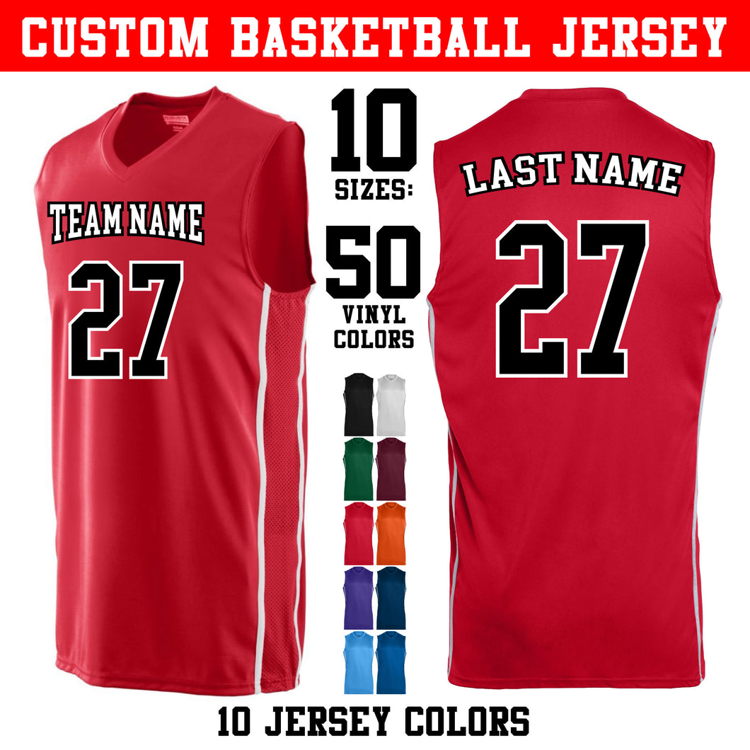 Custom Basketball Jersey - Adult and Youth Sizes (10 Colors)