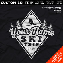 Load image into Gallery viewer, CUSTOM Snow Ski Trip Long Sleeve Premium T-Shirts - Diamond Snow Ski Design (6 Colors)