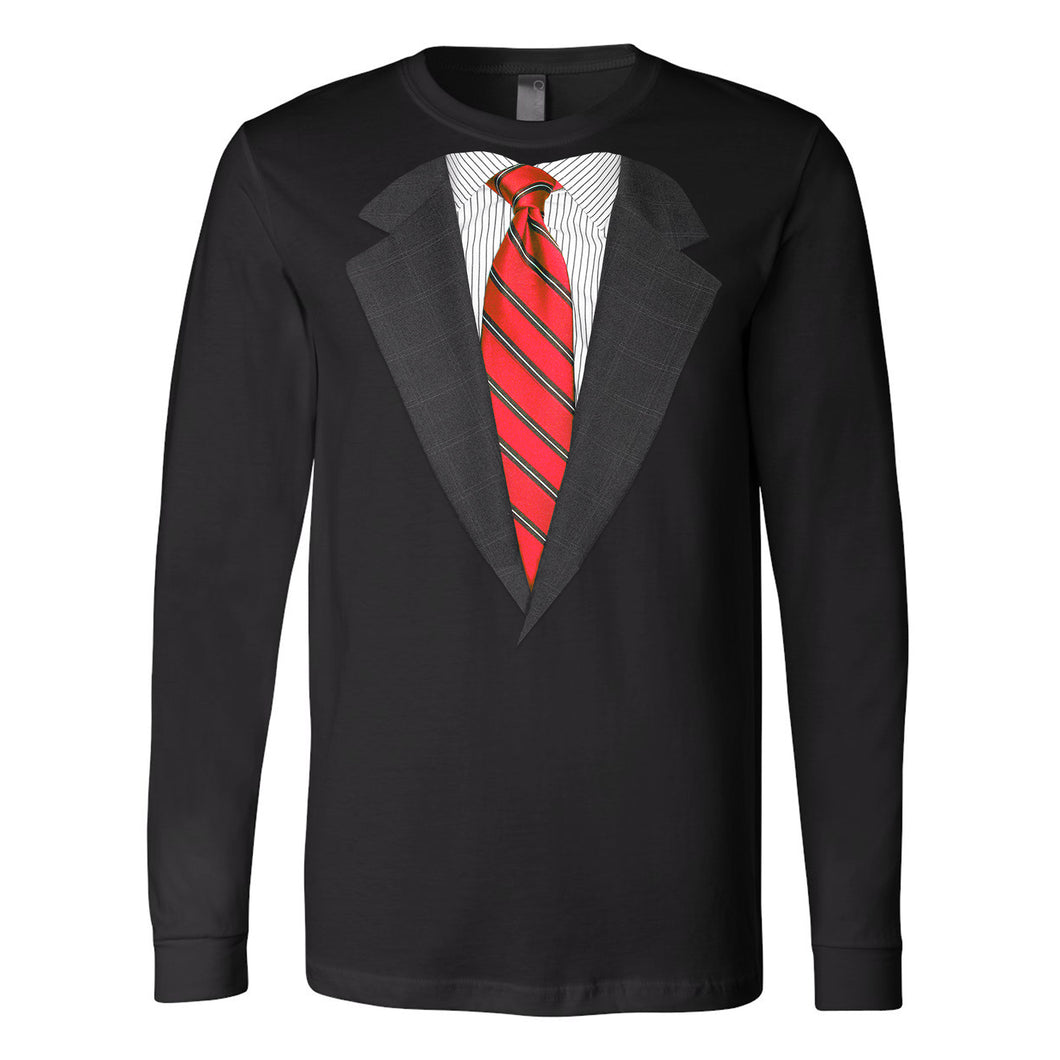 Suit Up! Realistic Suit and Tie T-shirts Available in Short and Long Sleeve (4 Colors)