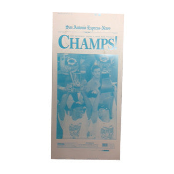 1999 NBA Champions Newspaper Front Page Press Plate
