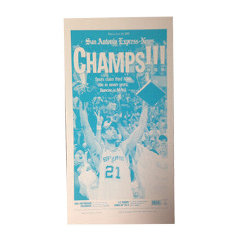 2003 NBA Champions Newspaper Front Page Press Plate
