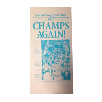 2005 NBA Champions Newspaper Front Page Press Plate