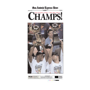 1999 CHAMPS NBA Champions Front Page Poster