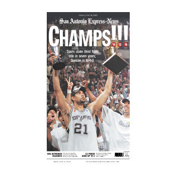 2005 CHAMPS NBA Champions Front Page Poster