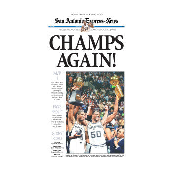 2003 CHAMPS AGAIN NBA Champions Front Page Poster