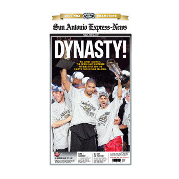 2007 DYNASTY NBA Champions Front Page Poster