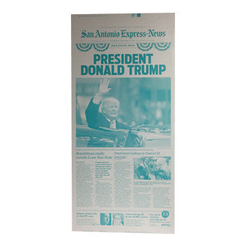 Donald Trump Presidential Win Front Page Press Plate