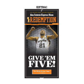 San Antonio Express News Poster- EXTRA Edition Spurs - June 15, 2014