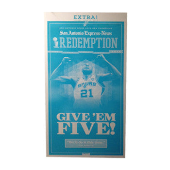 2014 NBA Champions Newspaper EXTRA edition Front Page Press Plate