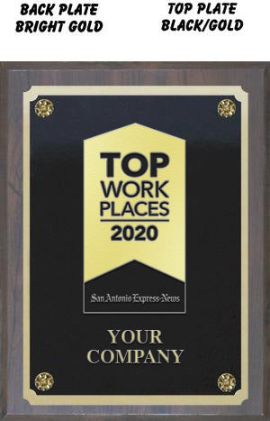 "8"" X 10"" Top Workplaces Plaque"