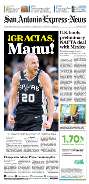 Manu Ginobli - Front Page Retirement Announcement Posters