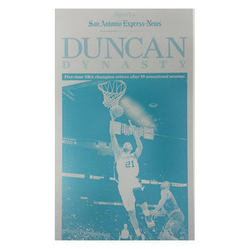 2016 Duncan Dynasty Front Page Press Plate