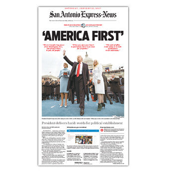 2017 Inauguration of President Donald Trump as 45th President - Front Page Poster