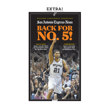 "2014 NBA Western Conference Finals ""Back for No.5"" Front Page Poster"