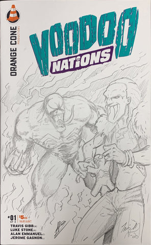 VOODOO NATIONS #1 VENOM VS BROTHER LUCAS LUKE STONE SKETCH COVER