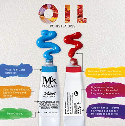 MozArt Supplies - Oil Paint Set