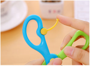 Mini Safety Round Head Plastic Scissors