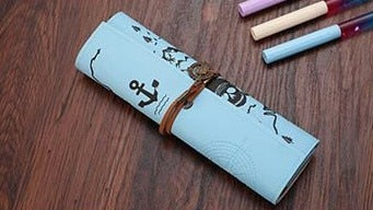 Luxury Roll Pencil Cases Leather