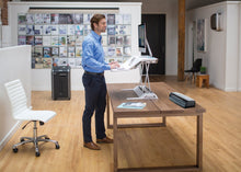 Load image into Gallery viewer, Advanced Sit / Stand Desktop Converter - bluespaceinteriors office furniture los angeles