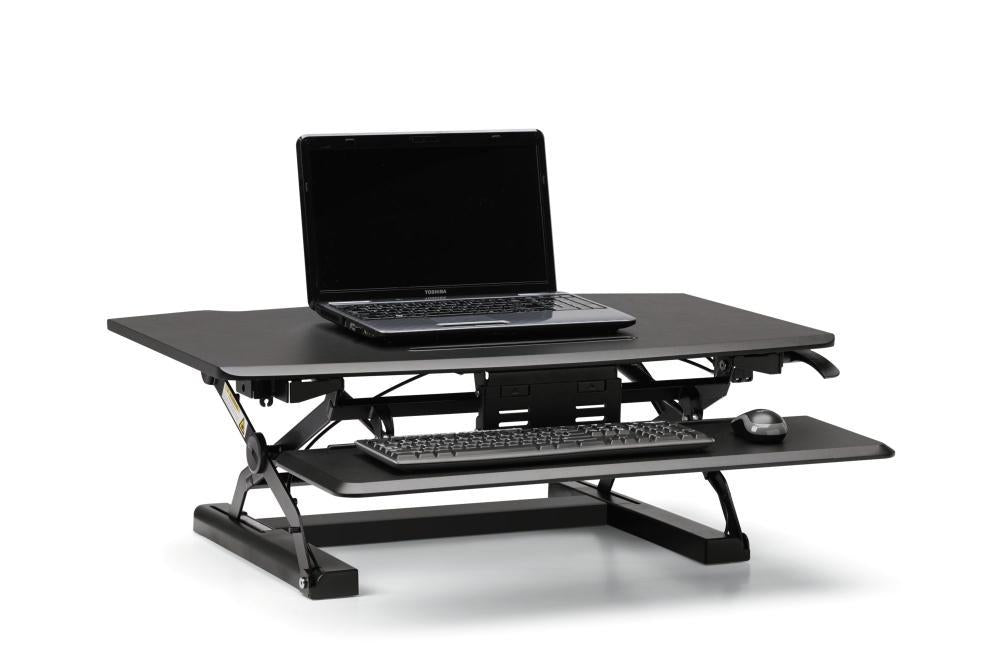 Desktop Riser with Keyboard Tray - bluespaceinteriors office furniture los angeles
