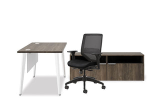 Urbana Table Desk Set - bluespaceinteriors office furniture los angeles