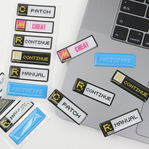 [Guardians of the Video Game] Epoxy Sticker_PATCH,CHEAT,Classic Department,Mobile Department,R&D Department,Prototype