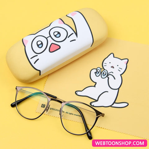 [Meow Man] Glasses Case & Microfiber Glasses Cloth Set_korea webtoon shop,shop webtoon,webtoon shop,webtoonshop,shopwebtoon,webtoon goods
