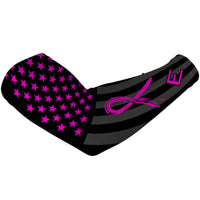 Shadow USA Flag Arm Sleeve - Breast Cancer Awareness Edition