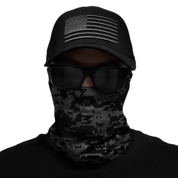 Black Digi Camo Multi-Use Face Bandana