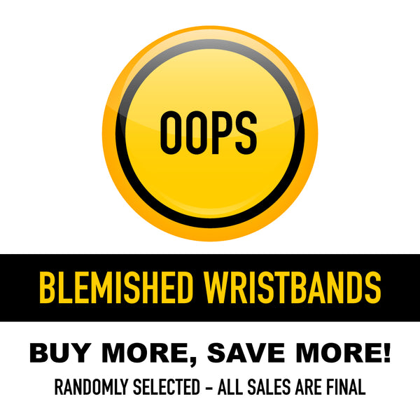 Blemished Wristbands (ALL SALES FINAL)