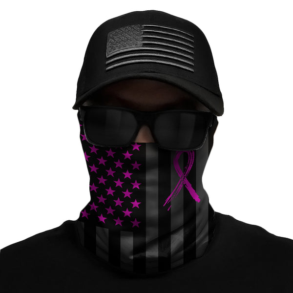 Shadow USA Flag - Breast Cancer Awareness Multi-Use Face Bandana