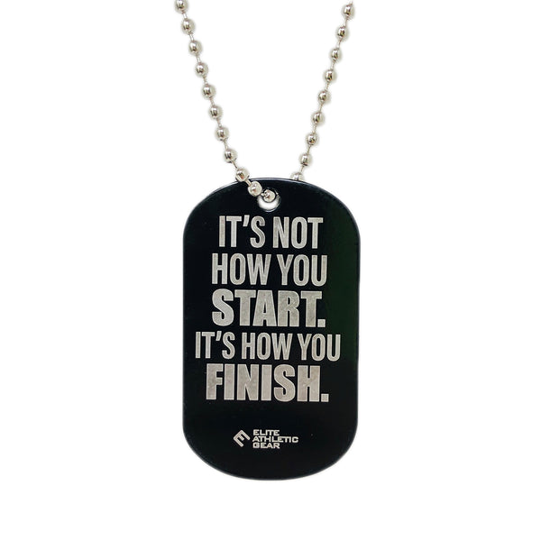 Finish Strong Dog Tag Necklace