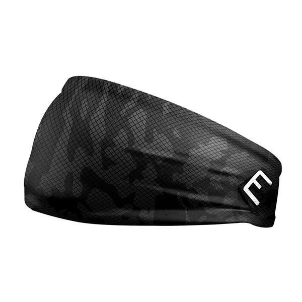 Gray Carbon Camo Headband
