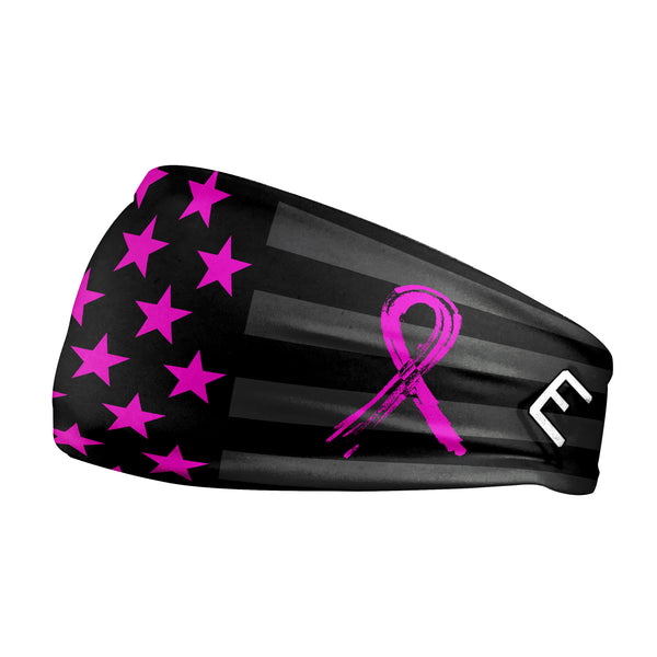 Shadow USA Flag - Breast Cancer Awareness Headband