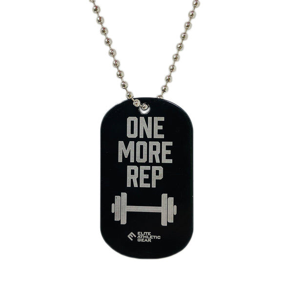 One More Rep Dog Tag Necklace