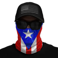 Puerto Rico Flag Multi-Use Face Bandana