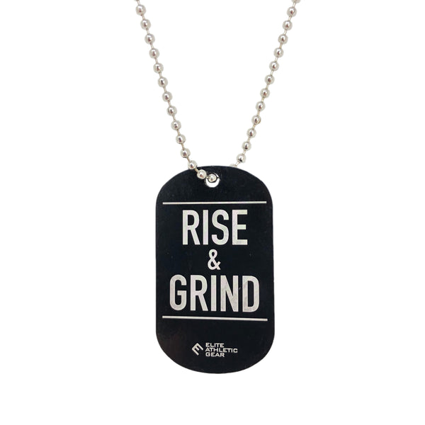 RISE & GRIND Dog Tag Necklace