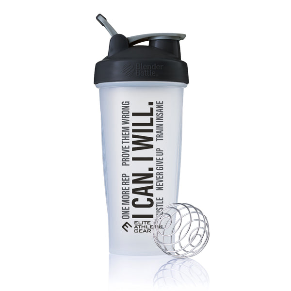 Motivational Shaker Cup (Clear w/ Black Lid)