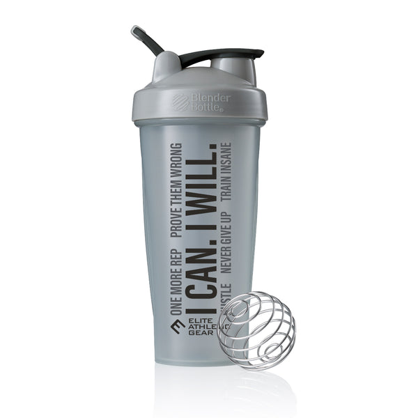Motivational Shaker Cup (Grey w/ Grey Lid)