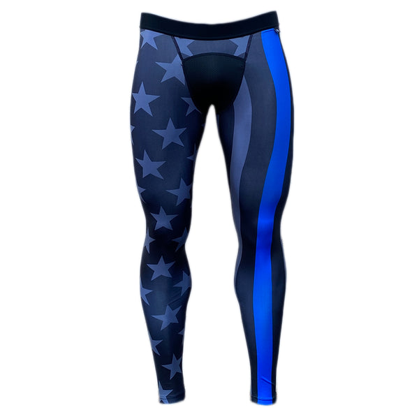 Thin Blue Line Compression Tights