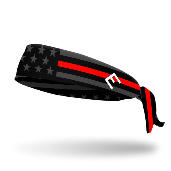 Thin Red Line Tie Headband