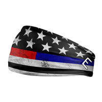 Thin Red and Blue Line Headband