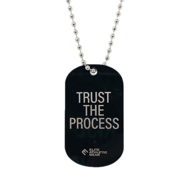 Trust The Process Dog Tag Necklace