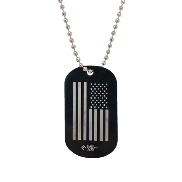 USA FLAG Dog Tag Necklace