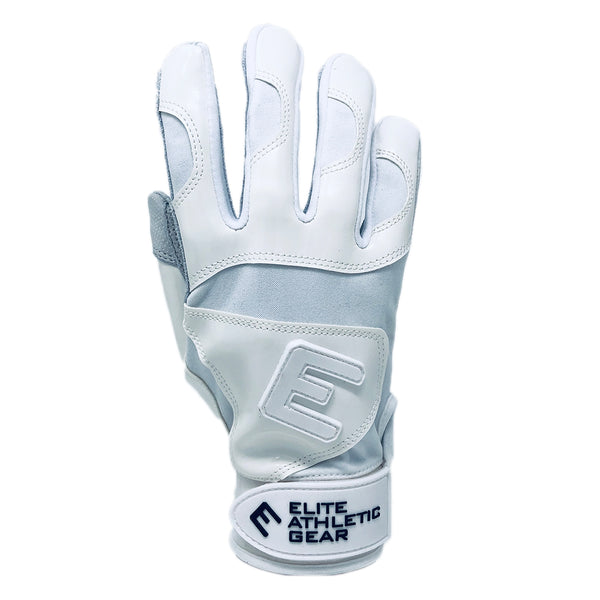 White Elite Batting Gloves