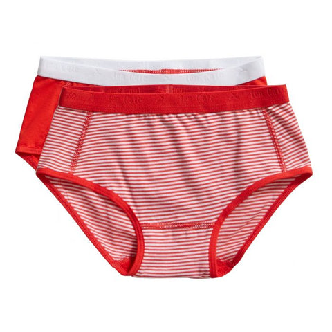 2 pack brief | Stripe & Flame Scarlet