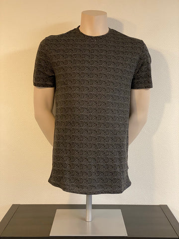 Number fitted tee | Dark Grey Melange & Rosewood Melange