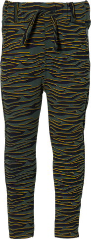 Linda pants | Dark Green Zebra